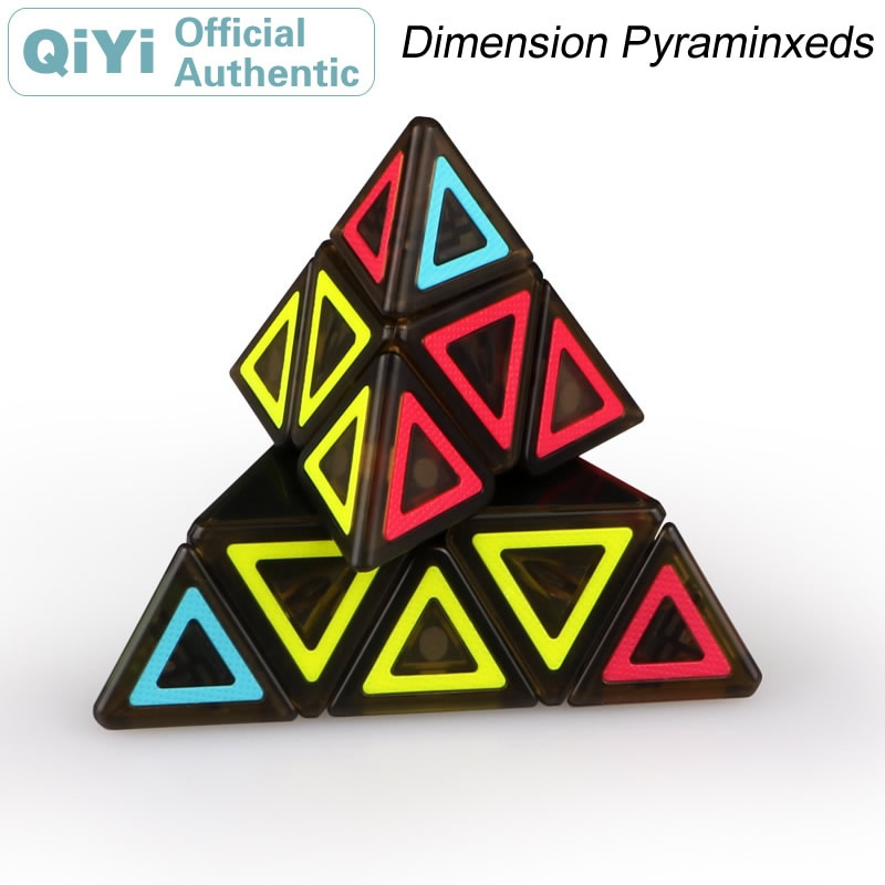 QiYi Dimension Pyramid Magic Cube Cubo Magico Professional Neo Speed Cube Puzzle Antistress Toys For Children 4x4x4 qiyi magic cube professional speed puzzle cube educational toys for kids children xmas gifts cubo magico rubic