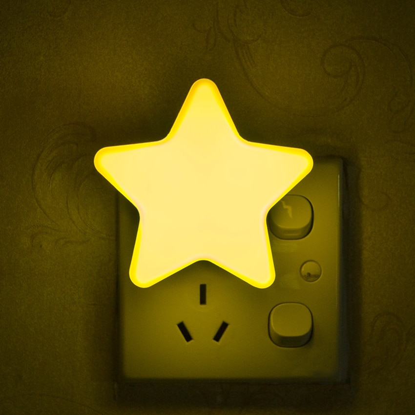 Intelligent Star Night LED Sensor Light Control Bedroom Bedside Plug-in Light  for Kid Sleeping