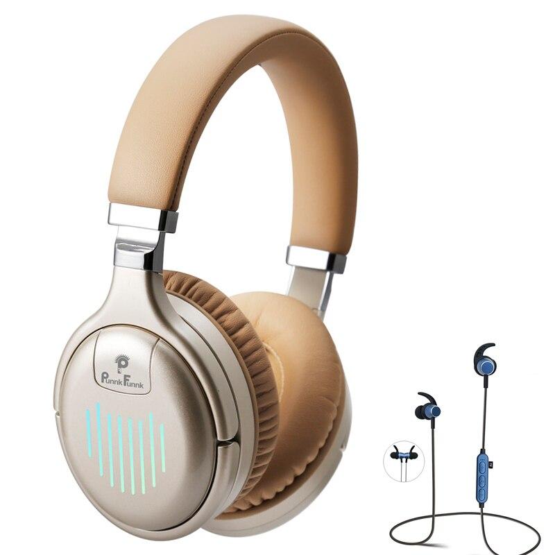 سماعات بلوتوث لاسلكية سماعة نشط إلغاء الضوضاء عميق باس ستيريو الصوت السلكية سماعة رأس مزودة بميكروفون للكمبيوتر المحمول