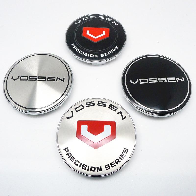 4 шт. 68 мм 62 мм для Центральной крышки колеса VOSSEN ступицы Эмблема для стайлинга автомобиля значок логотип ободка чехол 65 мм наклейки аксессуа...