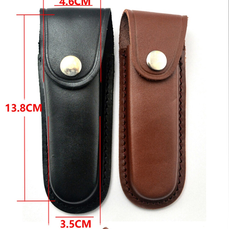 Fold Knife Tool Flashlight Belt Loop Case Holder Leather Sheath Holster Pouch Bag Pocket Hunt Camp Outdoor Carry Multi Gear недорого