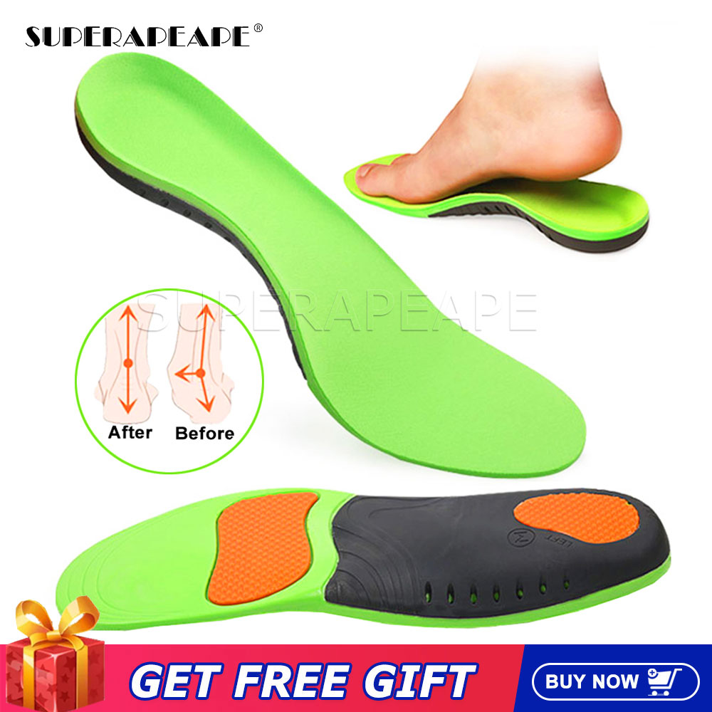4d men and women universal sole flat insole flat foot insole support insole orthopedic massage mat sports insole nd 1 High Quality EVA Orthotic Insole For Flat Feet Arch Support Orthopedic insole For Men Shoe Pad shoes insert  Shoes Sole