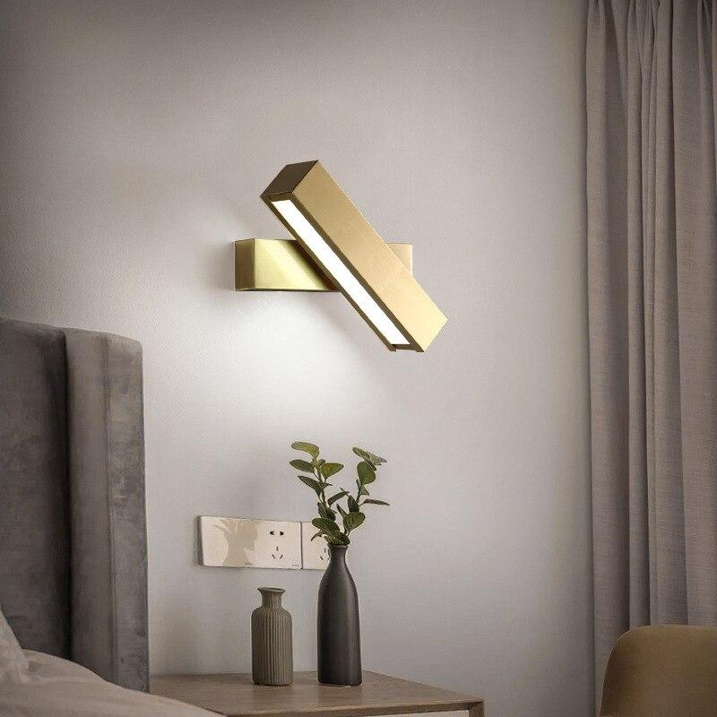 nordico moderno lampada de parede cobre para o quarto cabeceira deco criativo corredor