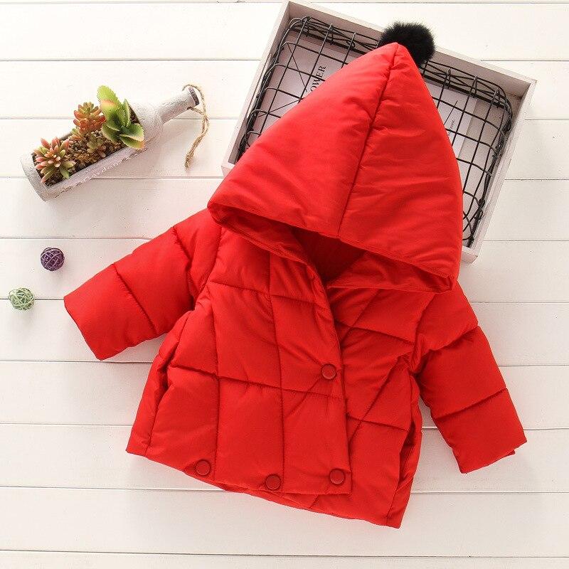 casaco de inverno para meninas jaqueta quente com capuz fashion para criancas de