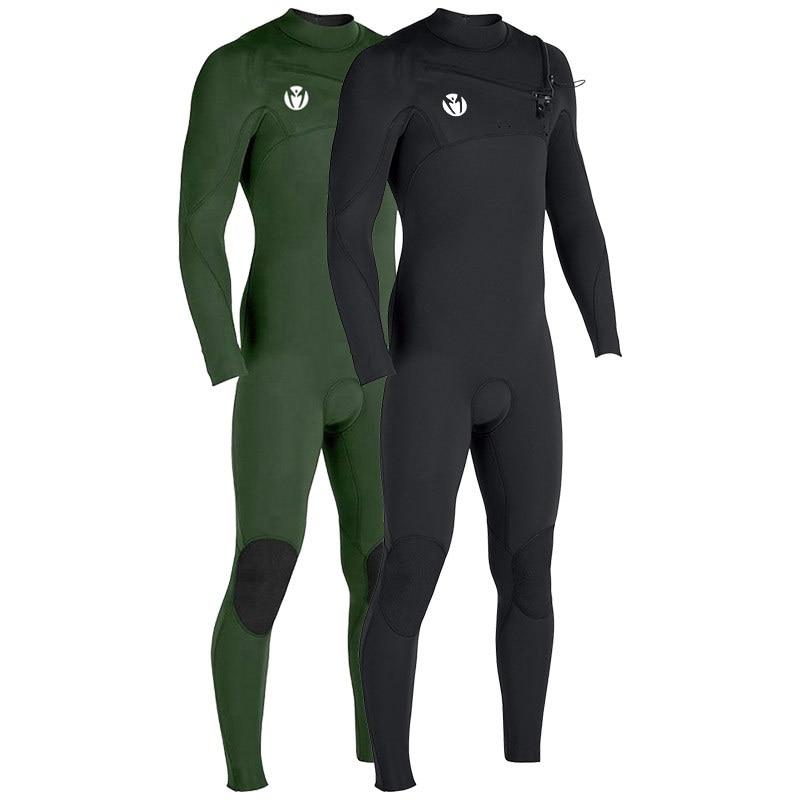 3MM Neoprene Men Front Zipper Scuba Diving SwimSuit Scuba Surf Triathlon Spearfishing Full Body Bathing Warm Snorkeling Wet Suit