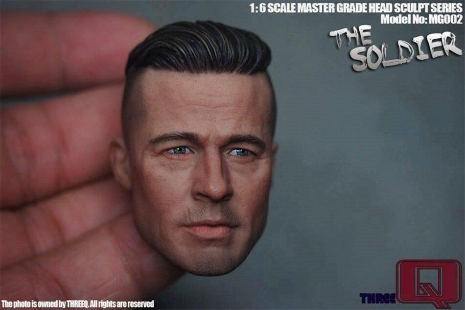 Escala de THREEQ MG002 1/6 el soldado de la cabeza de la esculpt del modelo de 12 figura masculina juguetes muñecas