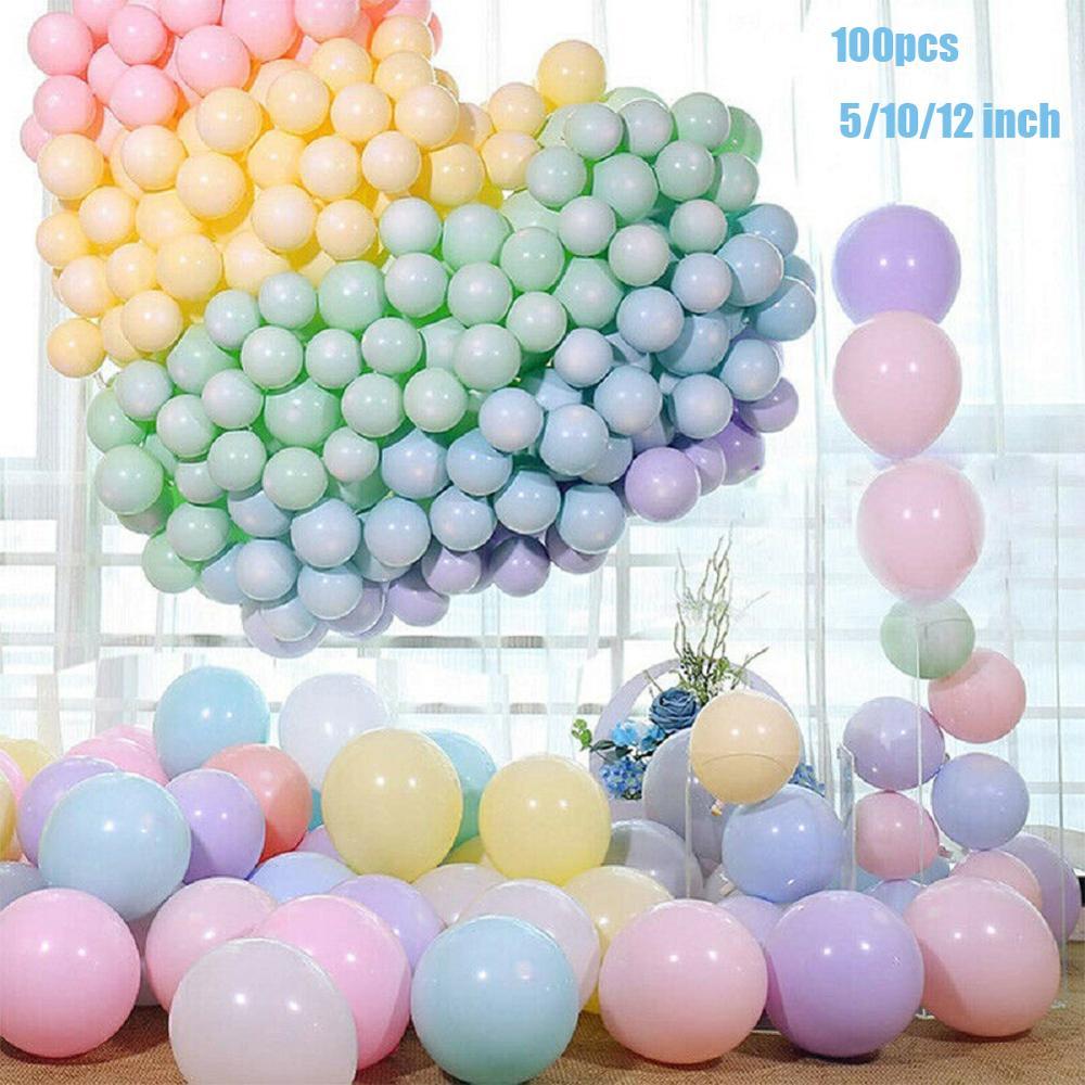 100 Uds. Globos de látex de macarrón de seguridad Natural, Pastel, caramelo, globo, decoración de fiesta de cumpleaños, Baby Shower Decor Globos de aire