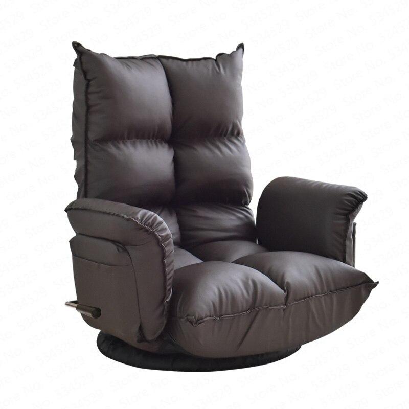 B Bay window sofa chair lazy couch single girl creative Japanese tatami living room folding casual lunch break bedroom chair