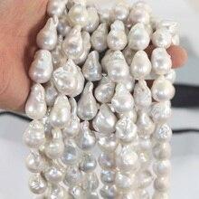 Grande perle deau douce Baroque goutte à goutte perles nouvelle perle deau douce AA blanc brin lâche collier à faire soi-même pour les femmes