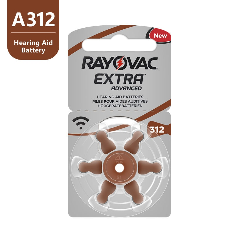 A312 312A ZA312 312 PR41 Hearing Aid Battery A312 Rayovac Extra Zinc Air Hearing Aid Batteries For Hearing Aid 60PCS недорого