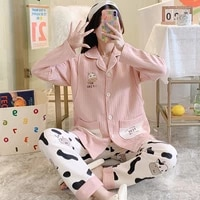 autumn winter thicken warm cotton padded maternity nursing sleepwear sets cute feeding pajamas suits clothes for pregnant women