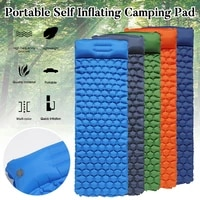 self inflating camping sleeping pad double moisture proof soft outdoor camping mat ultralight with pillow for traveling hiking