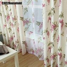 Rideaux demi-ombre épais   Tissu imprimé en coton de haute qualité pour salle à manger, salon et chambre à coucher, vêtements de jardin