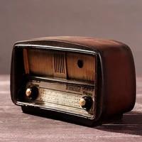 europe vintage radio craft resin radio model retro nostalgic ornaments bar home decor accessories gift antique imitation