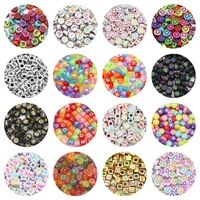 mixed letternumbersheartfacestar acrylic square cube flat round 67mm loose spacers beads for jewelry making diy bracelets