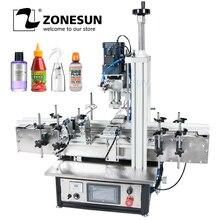 ZONESUN Ropp pompe pneumatique fiole bureau vis automatique capsulage Machines verre vis alcool parfum Pet bouteille en plastique
