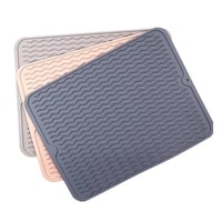 large multifunctional silicone dry mat heat insulation pot holder dish cups draining pad table placemat kitchen supplies