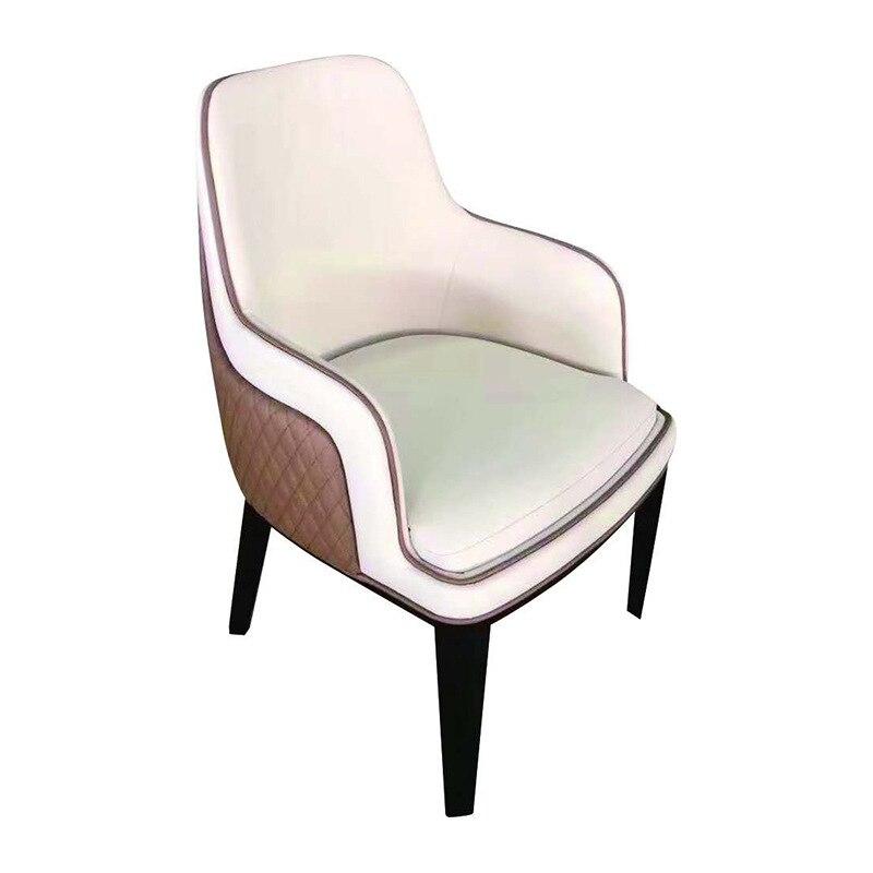 Silla de comedor de lujo ligera y moderna, silla de recepción minimalista moderna, silla de ocio, silla de comedor Villa
