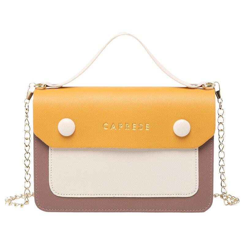 LISM moda salvaje hit color hombro diagonal mano cadena señoras pequeño bolso Mujer Teléfono Móvil bolsa