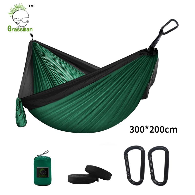 300*200cm Portable Camping Parachute Hammock Survival Garden Outdoor Furniture Leisure Sleeping Hamaca Travel Double Hanging Bed