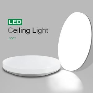 Ultra-thin 3CCT Living Room lights LED Ceiling Lamp  20W lighting fixture Surface Mount Flush Ceiling Lights For Bedroom Kitchen