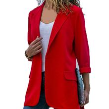 Fashion Coats Women Blazer Suit Coat Long Sleeve Solid Office Jacket Outerwear Ladies Work Suits Spr
