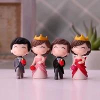 PVC romantique Couple Figurines artisanat resine poupees doux amoureux fee ornements decoratifs pour mariage decor de Table a la maison