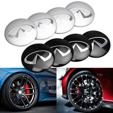Style de voiture 4 pièces 56mm voiture roue Center moyeu casquettes insigne couvre autocollant pour Infiniti FX35 Q50 Q30 ESQ QX50 QX60 QX70 EX JX35 G35