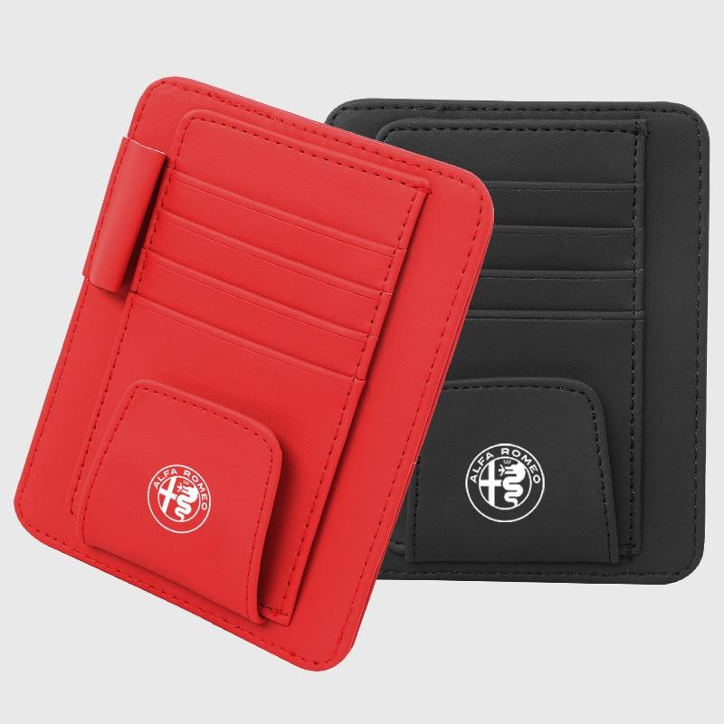 Для Alfa Romeo козырек автомобильный солнцезащитный козырек для хранения держатель для карт, очки с оправой держатель, Бизнес держатель для кар...