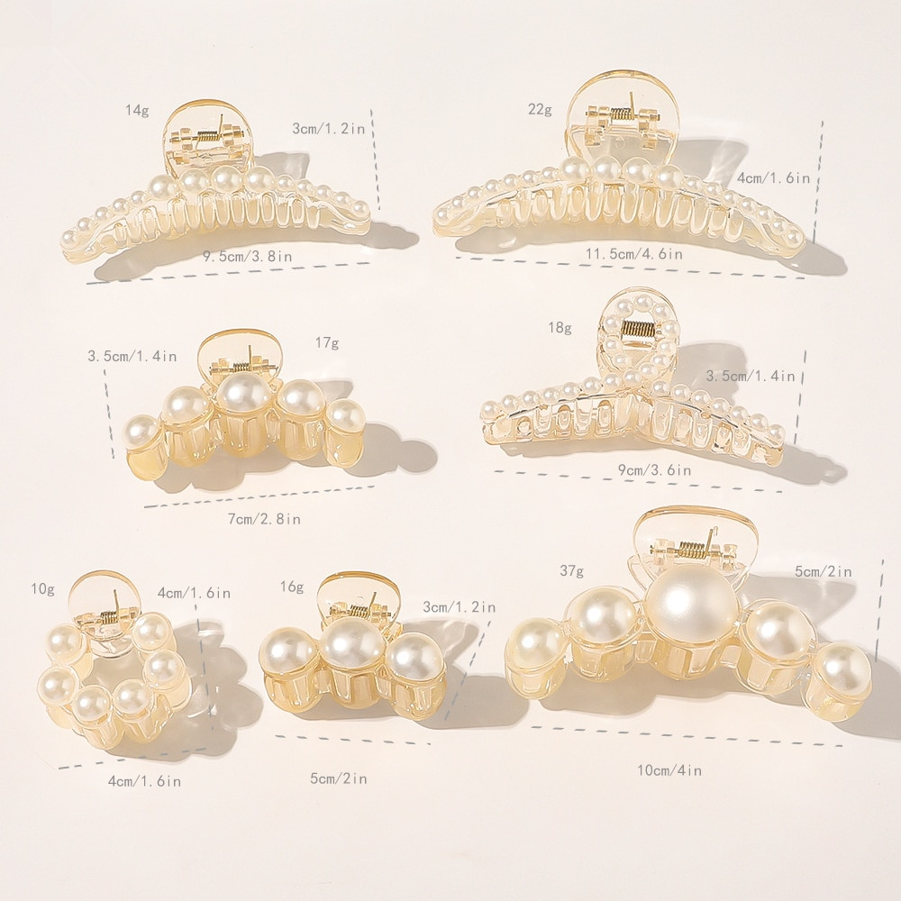 Akril hajkarom klipek nagy méretű, nagy gyöngyökkel, smink és - Ruházati kiegészítők - Fénykép 4