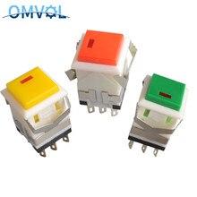 3 sztuk Self-lock i chwilowy przycisk przełącznik z lampką DC3V