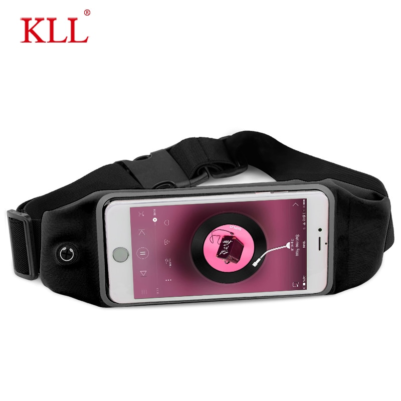 6.5inch Sports Running Waist Bag for iPhone Samsung Huawei Outdoor Jogging Belt Waterproof Phone Bag