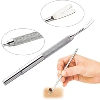 dog cat tick removal tweezer stainless steel plastic boxpvc bag packing doggy kitten cleaning grooming pet product 3pcsset
