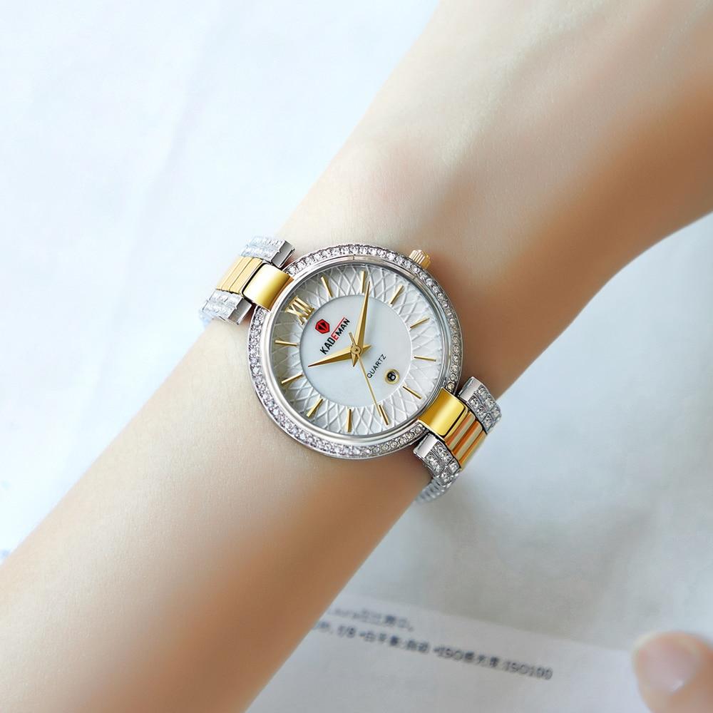 KADEMAN Womens Watches Fashion Top Luxury Brand Date Display Women Wristwatch 30 Meter Waterproof Ladies Bracelet Clock For Girl enlarge