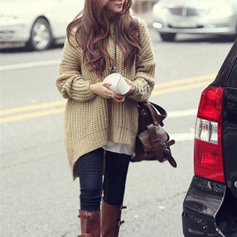 Women Korean Fashion Winter 2020 Knit Hooded Sweater Asymmetrical Long Front Short Back Pullovers Kawaii Warm Jacket Clothing openwork asymmetrical sweater