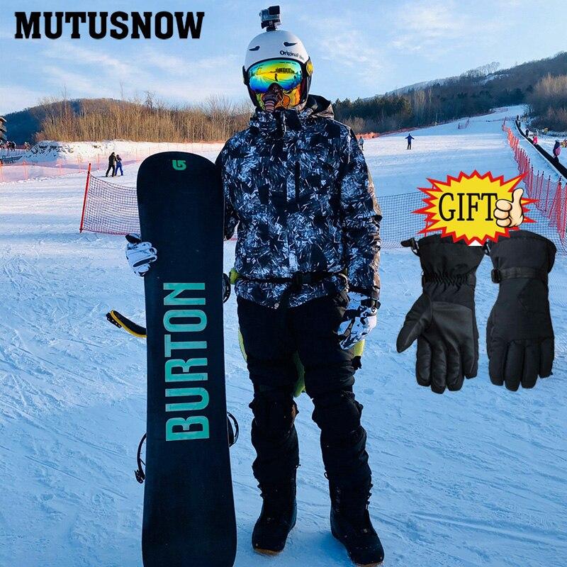 Мужской лыжный костюм 2020 новый уличный теплый водонепроницаемый ветрозащитный дышащий мужской зимний сноуборд куртка и брюки зимний костю...