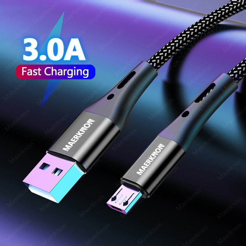 3A microUSB Cables 5A Type C Cable Fast Charging Date For Huawei P40 Xiaomi Redmi Mobile Phone Andro
