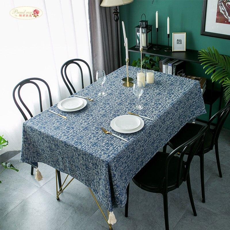 ¡Nuevo! ¡directo de fábrica! Mantel Rectangular sui zhuo bu de Jacquard de Color liso con flecos para mesa de centro bei ou gentry