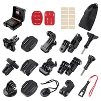 gopro accessories adapter curved flat surface mount base battery case j hook safety buckle long screw extension arm wrench