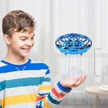Rc quadrirotor hélicoptère volant main magique UFO balle avion détection Mini Induction Drone enfants électrique jouet électronique