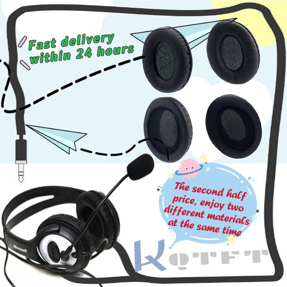 Earpads Replacement for Bluedio Air Headphones Headset Parts Earmuff Cover Cushion Cups pillow