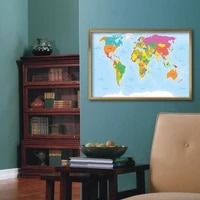 political map of the world in french 9060cm wall art poster canvas painting living room home decoration school supplies