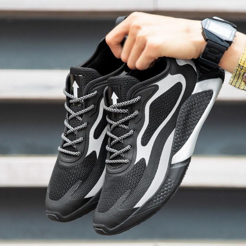 Модная мужская обувь; супер-светильник на шнуровке; спортивные кроссовки; популярная мужская обувь; дышащие мужские кроссовки; chaussure homme; бол...