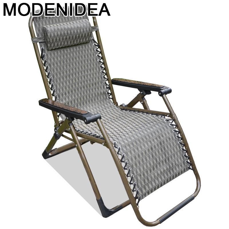 Longue-Cama plegable para exteriores, muebles De exterior para acampada, balcón, silla De...