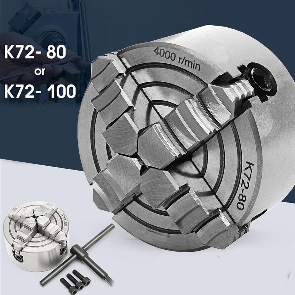 K72-80/100 SANOU مخرطة تشاك 4 الفك المعادن المستقلة الذاتي توسيط ماكينة حفر ودرفلة أجزاء آلة شطف تشاك