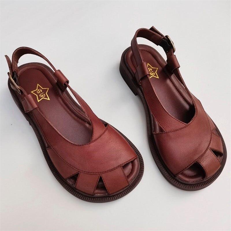 Сандалии женские из натуральной кожи, Босоножки с открытым носком, плоская подошва, гладиаторы, лето 2011, 100%