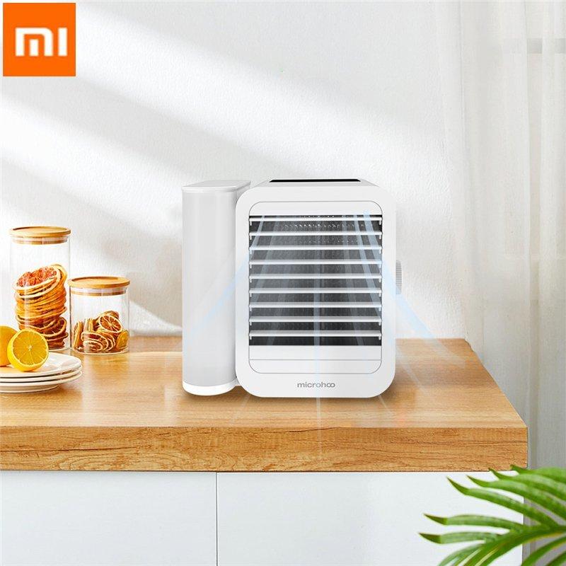 Xiaomi Microhoo 3 en 1 Mini aire acondicionado, ventilador de refrigeración por agua, pantalla táctil, temporizador, refrigerador Artic, humidificador, ventilador de refrigeración por agua