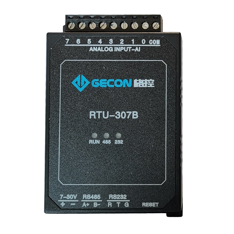RTU-307B RS485 DAQ 8AI 4-20MA 0-10V Analog Inputs Module 8AD 12-bit ADQ , RS232 RS485 Modbus RTU