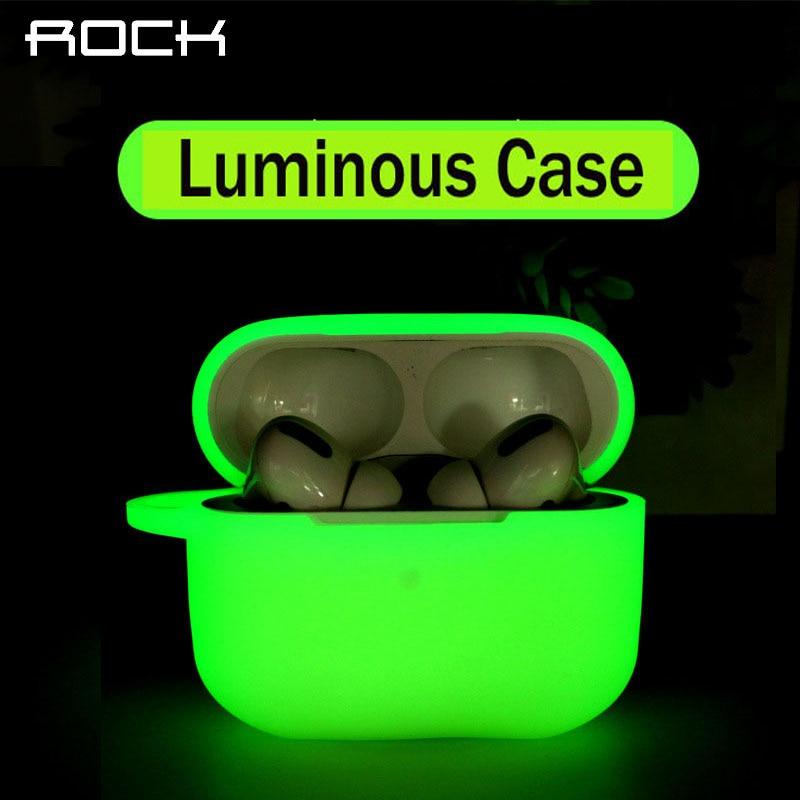 Funda protectora ROCK para Apple Airpods Pro luminosa funda completa para auriculares Bluetooth auriculares Air pods 3 fundas bolsa caja