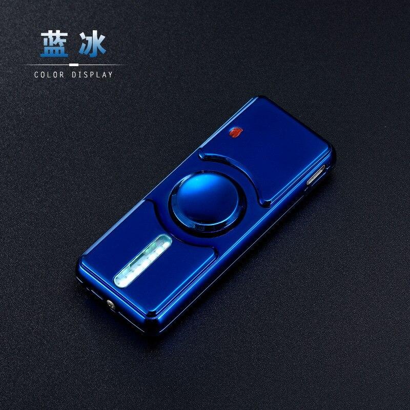 Luminous Spinner Metal Fidget Hand Spinner Top Spinners Stress USB Charging Lighters Fingertip Gyro Cigarette Accessorie Gift E enlarge